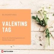 Verwelkte und erfrorene Blumen am Valentinstag